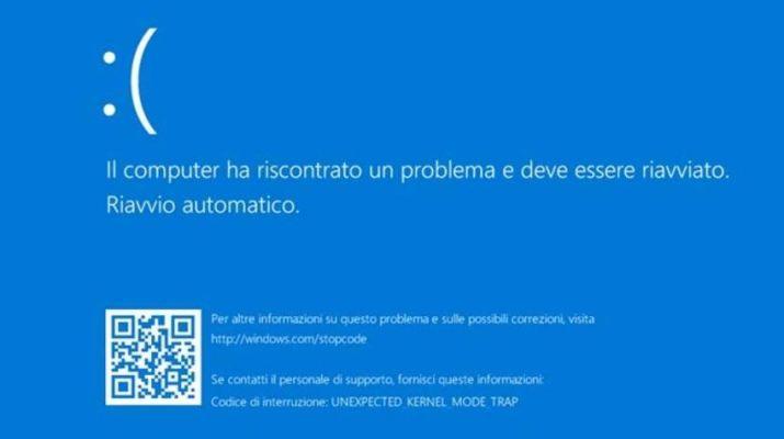 windows-10-il-computer-ha-riscontrato-un-problema-bsod-schermata-blu
