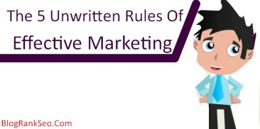 The 5 unwritingv Rule Of Effective Marketing