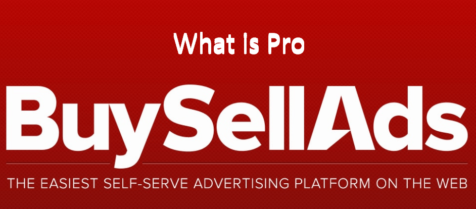 What is Buysellads Pro