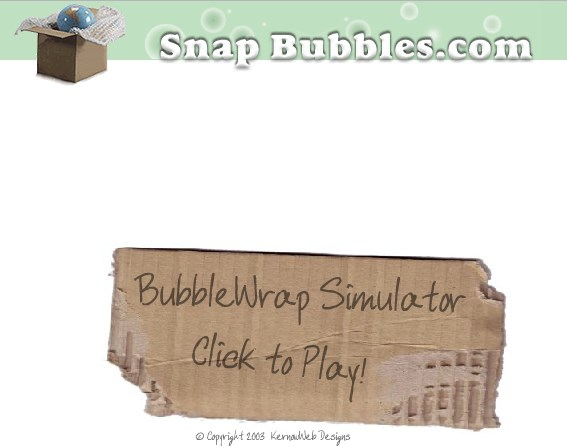 Snap bubbles Weird Websites