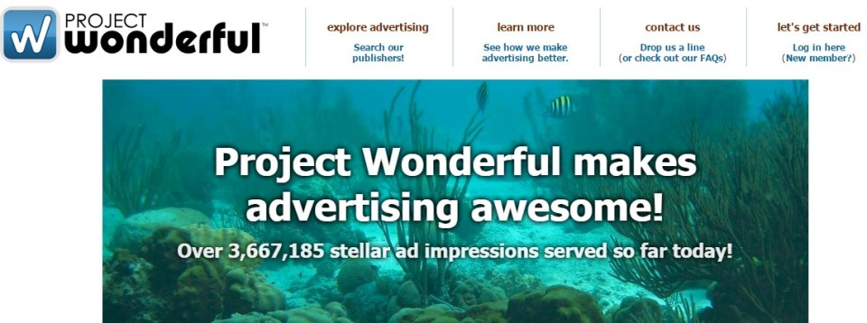 project wonderful Makes Advertising