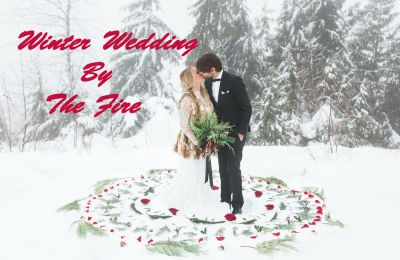 Winter Wedding By The Fire