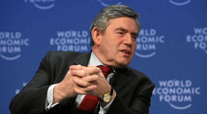 Gordon Brown at the World Economic Forum
