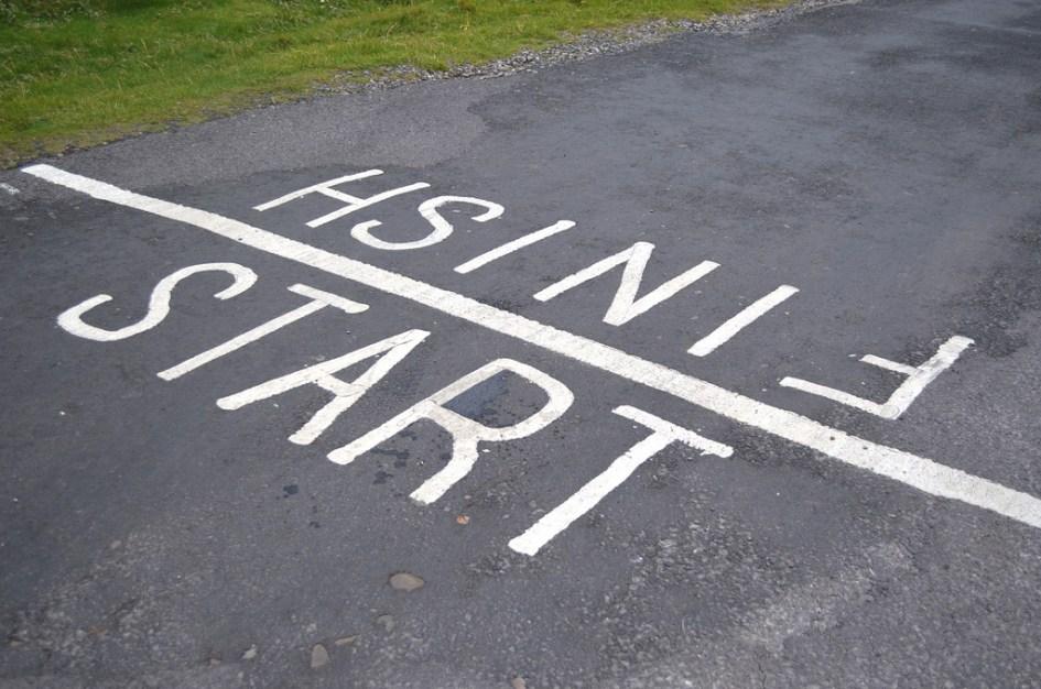 start and finish line