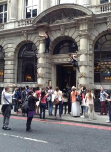 Freerunners in London, image by Jennifa Chowdhury