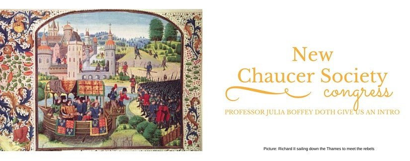 Professor Julia Boffey on the 20th Biennial Congress of the New Chaucer Society