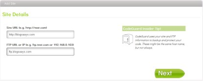 CodeGuard Site Details
