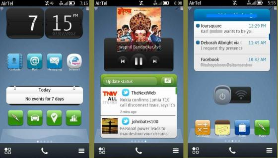 Symbian Belle Homescreen UI