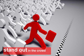 Stand out in crowd blogging