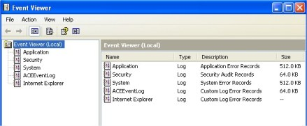 Event Viewer Complete Internet Repair