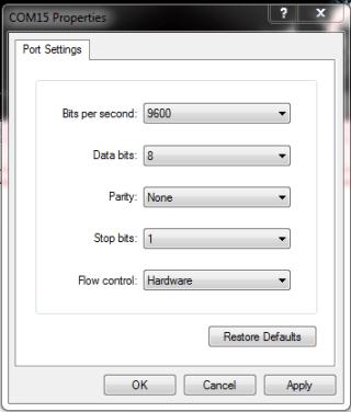 Send SMS Java Code Comp port settings