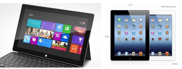 Microsoft Surface Display vs ipad display