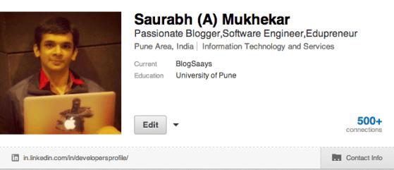 Saurabh Mukhekar LinkedIN