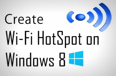 Wifi Hotspot windows 8