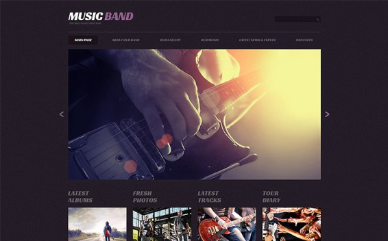 Music Band Responsive WordPress Theme