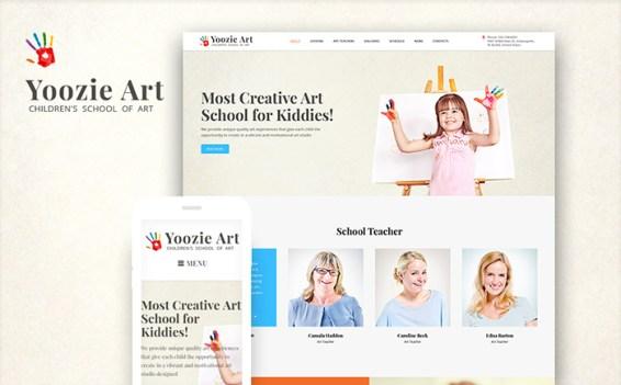 Yoozie Art School WordPress Template