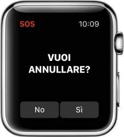 Annullare un SOS su Apple Watch