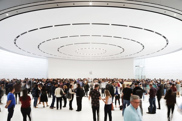 Apple Keynote di Settembre 2018 presso lo Steve Jobs Theater