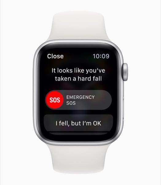 Apple Watch Series 4 SOS di Emergenza in Caso di Rilevazione di Caduta