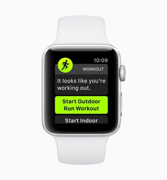 Apple watchOS 5 Rilevamento Automatico del Tipo di Allenamento