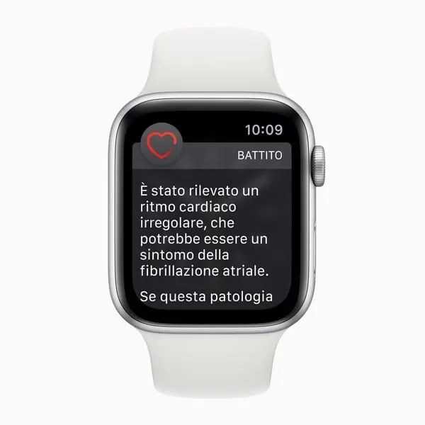 Apple Watch Rilevazione Ritmo Cardiaco Irregolare Afib