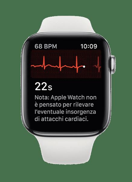 Esecuzione di un ECG su Apple Watch
