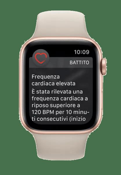 Rilevazione di Frequenza Cardiaca Elevata su Apple Watch