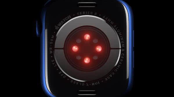 Sensore ottico ed elettrico Apple Watch Series 6