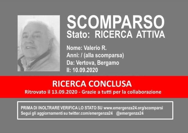 Emergenza24: CONCLUSA RICERCA Valerio R Vertova Bergamo 10_09_2020