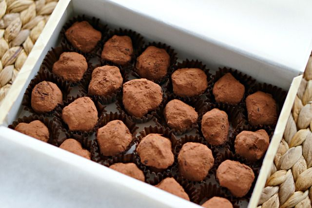 Receta - Trufa de chocolate y naranja