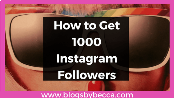 How to Get 1000 Instagram Followers