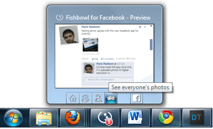Fishbowl Windows 7 Taskbar Integration