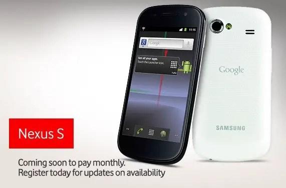 White Nexus S - Vodafone