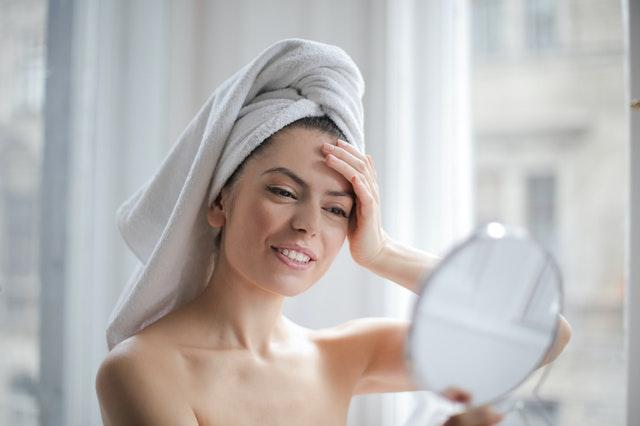 huidverzorging vrouw