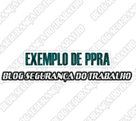 Exemplo de PPRA