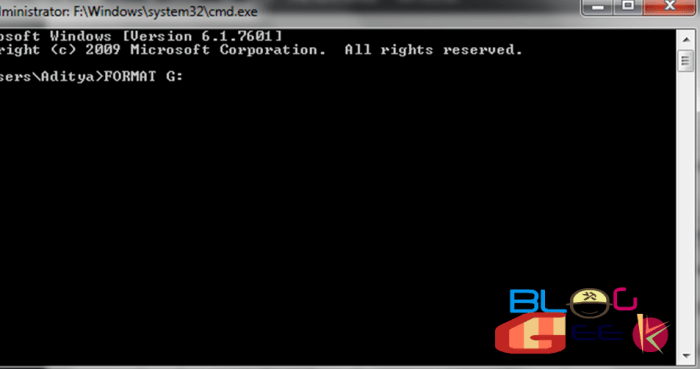 How to Format a Pendrive Using Command Prompt