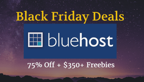 {Genuine} Bluehost Black Friday 2017 Sale Upto 75% Off