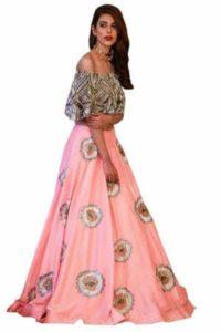 Pink Silk Partywear Lehenga