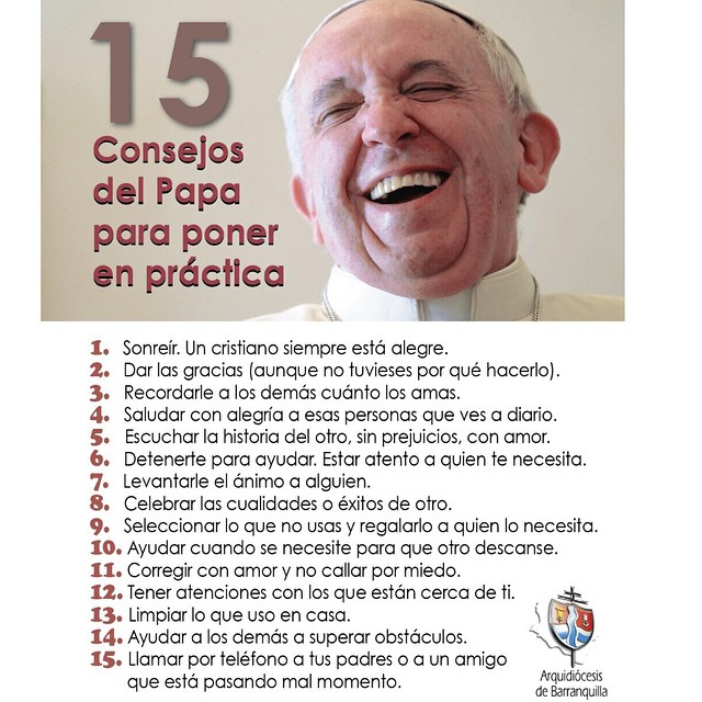 papa francisco feliz 15 consejos