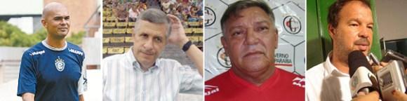 Flávio Campos, Arnaldo Lira, Freitas Nascimento e Maurício Simões