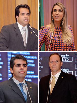 Deputados Edilázio, Andrea, Adriano e Sousa