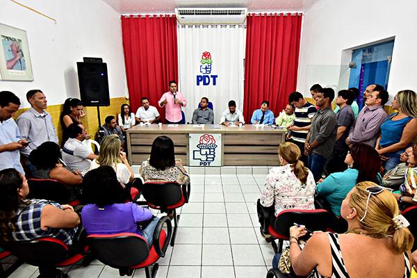 Prefeito Edivaldo Holanda Júnior ganha o reforço da militância do PDT