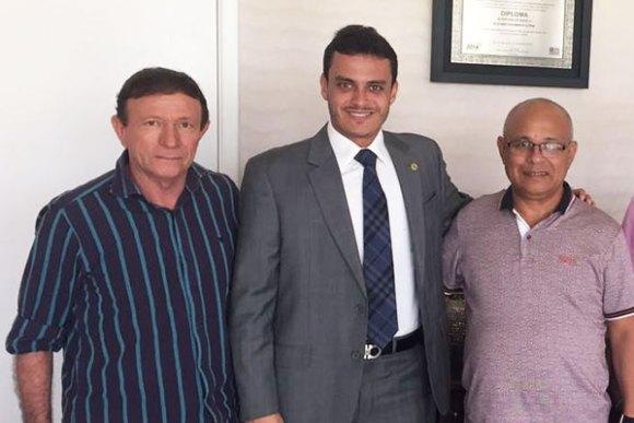 Ex-prefeito Cecé Monteiro, Glalbert Cutrim e o pré-candidato a prefeito, Zequinha Ribeiro