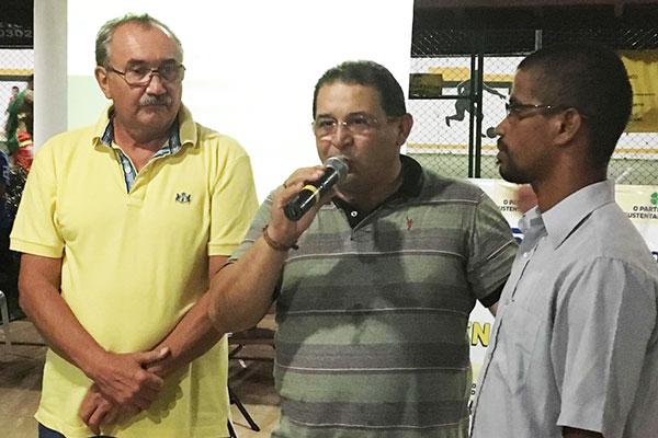 Deputado estadual César Pires e Jota Pinto presidente do PEN, no Maranhão