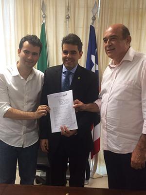 Adriano e os prefeitos de Altamira e Santa Inês