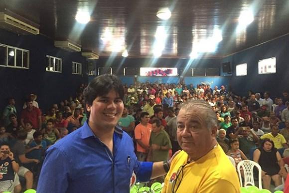 Deputado federal André Fufuca (PP) com o candidato Fiufuca Dantas em Alto Alegre