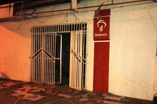 Duas agências bancárias foram alvo de bandidos no interior do Maranhão nas últimas 24 horas