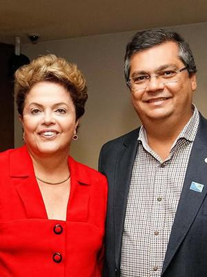 Presidente afastada Dilma com Flávio Dino