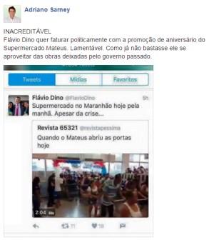 AdrianoSarneyCriticaDino