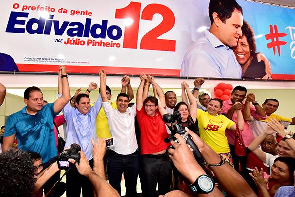 Edivaldo recebe apoio de Bira do Pindaré para sua candidatura à reeleição
